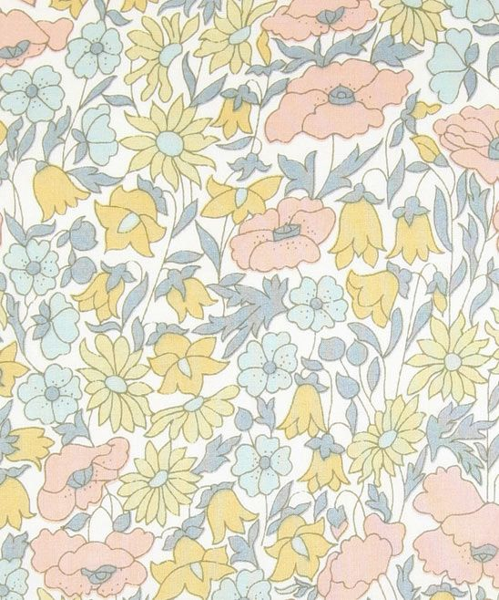 "Liberty Art Fabrics. Poppy and Daisy. This looks so much like my daughter's first ""big girl"" bed bedding fabric...25 yrs ago."