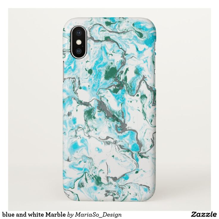 blue and white Marble iPhone X Case