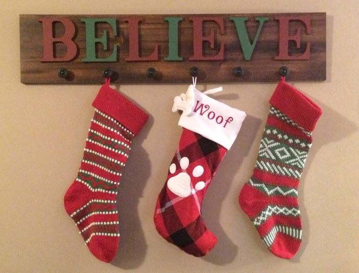 DIY stocking holder for those without a mantle