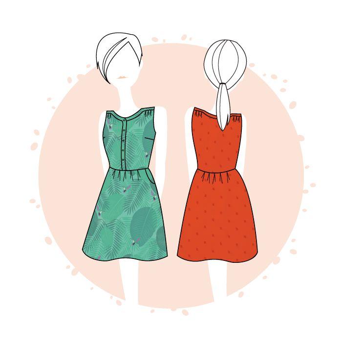 Belle-Ile dress - PDF - Anne Kerdilès Couture - Sewing Patterns Women