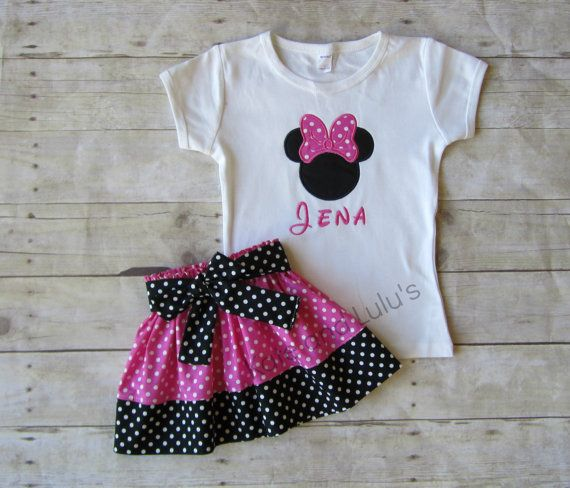 Minnie Mouse Shirt and Skirt Set Minnie Mouse by KateandLulus