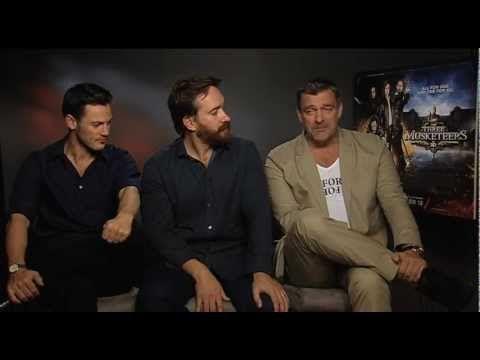 Matthew Macfadyen, Ray Stevenson, Luke Evans On The Three Musketeers