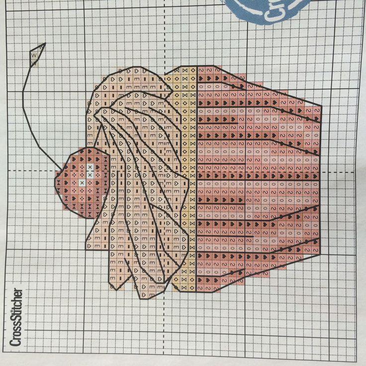 Cute cupcake cross stitch chart pattern free