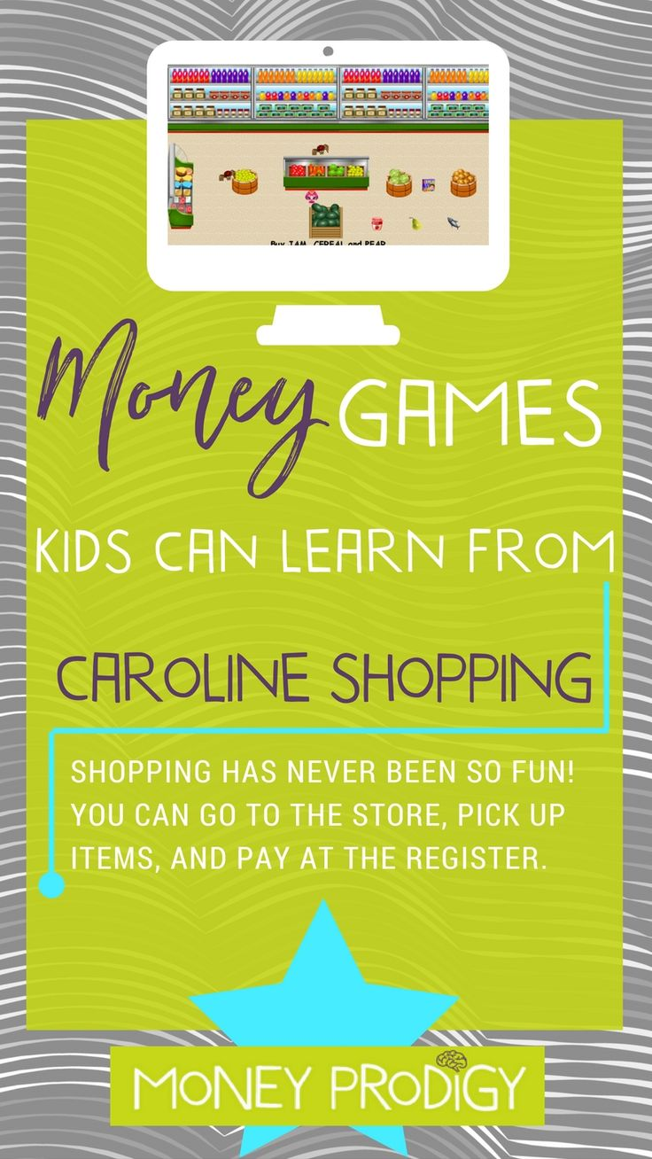 In this cash register game your kiddo − taking on the identity of Caroline − is given a list of items they need to pick up (following directions!), on top of paying for them at the cash register. As a fun aside, they need to avoid the spiders, as well as pick up any diamonds they find along the way. Seems like pretty sound life advice to me:).