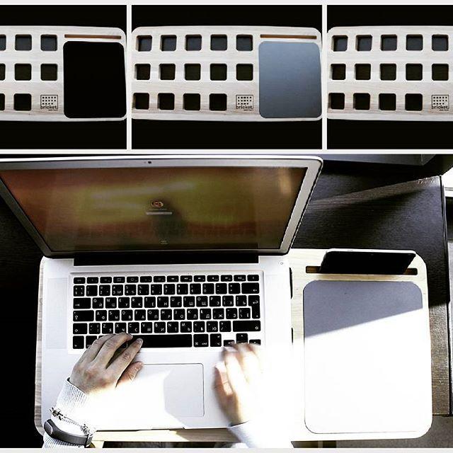 Серия функциональных подставок из натурального дерева Bricket lap desk black…