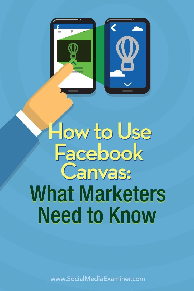 Have you heard of Facebook's new mobile ad experience, Facebook Canvas?  Facebook Canvas lets marketers combine images, video, text, and call-to-action buttons in a single, fully immersive mobile ad experience.  In this article you'll discover how to create a Facebook Canvas ad.  Via @smexaminer.