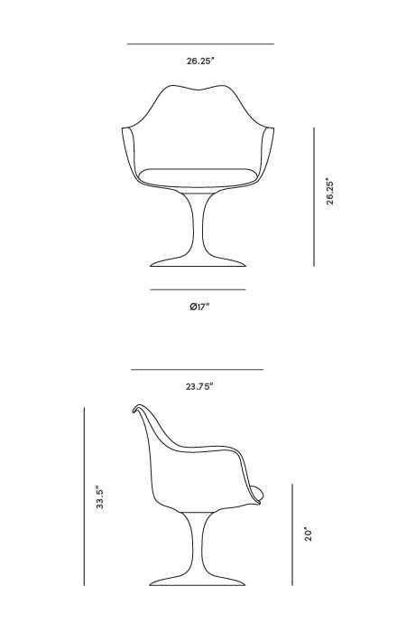 Tulip Armchair Rove Concepts Rove Classics Mid Century