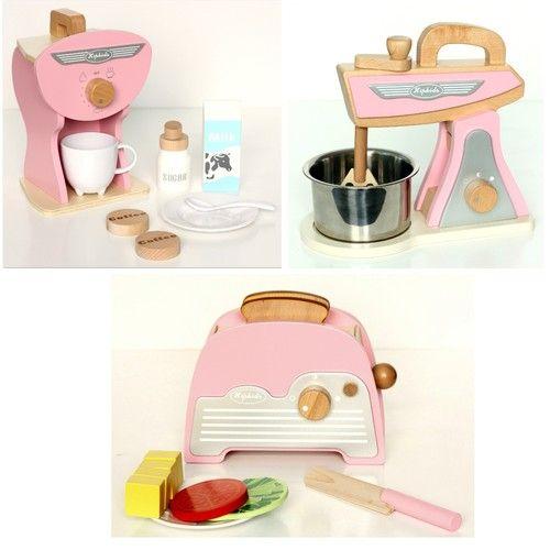 Pink Retro Toy Kitchen Accessories Set   3Pk