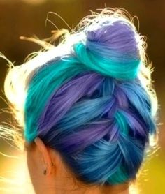 Multi Dye Job - I just love the colors! How they are each clearly visible, and how eye catching they look in this braid.