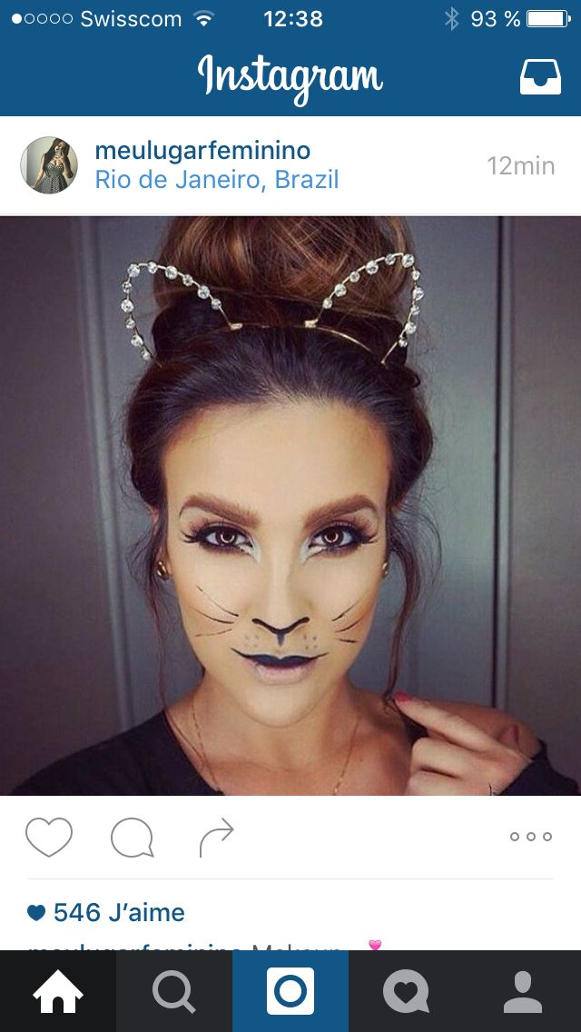 maquillage chat chic