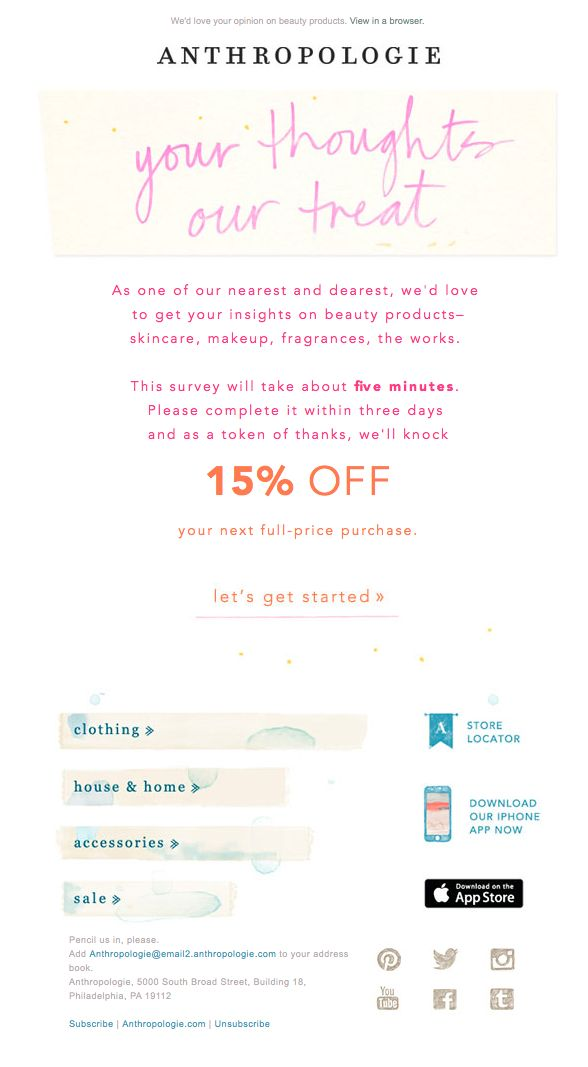 8 best Work images on Pinterest Email marketing, Email newsletter - feedback survey template