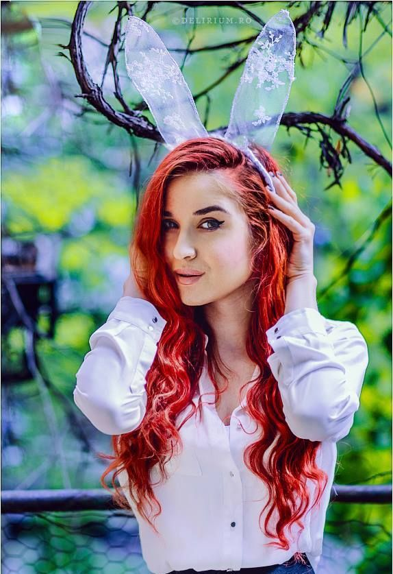 The White Rabbit with red hair