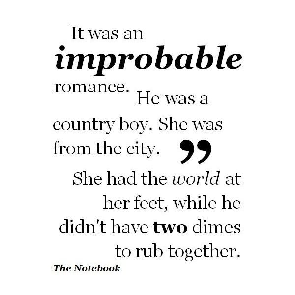 The Notebook Quote found on Polyvore