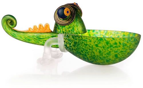 Chameleon Bowl, Small/Green- by Borowski