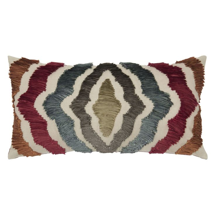 Rizzy Home Rich Applique And Embroidery Texture Decorative