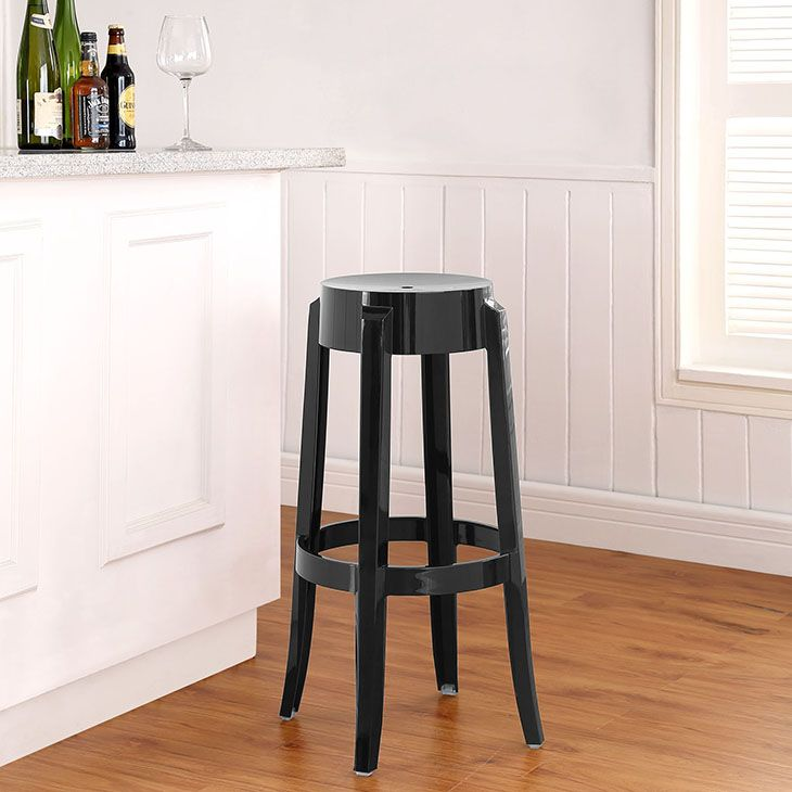 CASPER BAR STOOL IN BLACK The Silhouette Inspired Design Of This Bar Stool  Is A