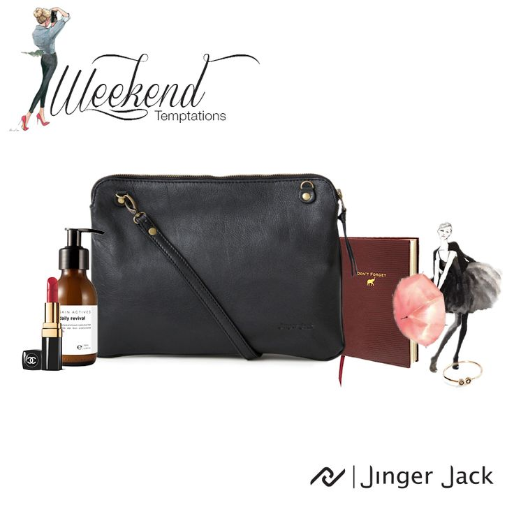 Jinger Jack's Weekend Temptation Sydney Clutch in Black. With Women's Day around the corner we picked some essentials every woman should have in her bag!  #blackclutch #womensday #womanessential #dailyrevival #weekendtemptation