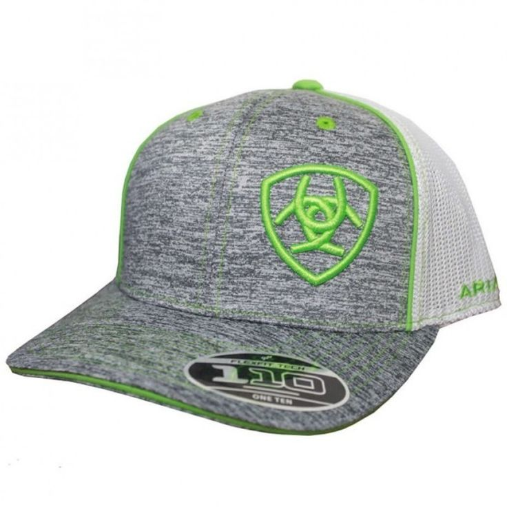 ARIAT MESH SNAP CAP GREY HEATHER  Guaranteed to make you stand out from the crowd! $44.95