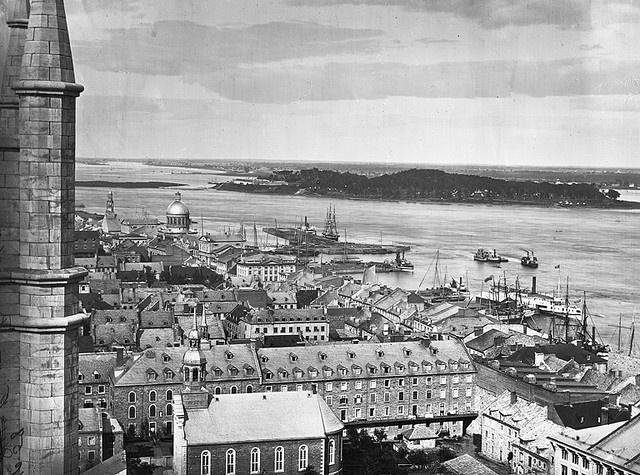 Harbour from Notre Dame Church, Montreal, QC, 1863 by Musée McCord Museum, via Flickr