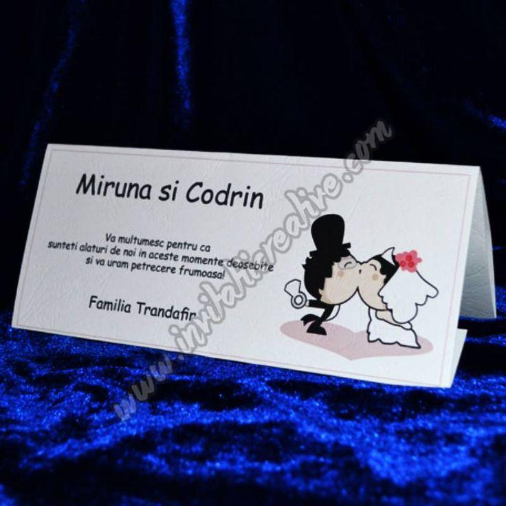 Plic de bani nunta cu miri haiosi creat din carton special pentru nunta ta!