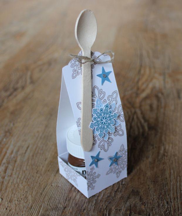 geschenk set weihnachten mini nutella verpackung stampin. Black Bedroom Furniture Sets. Home Design Ideas