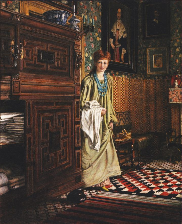 Ellen Epps (English painter) 1850 - 1929 aka Nellie Epps 'The Dutch Room' in Townshend House, 1873