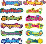 "Checkout the ""Poppin' Patterns Seasonal Months Of The Year Calendar Headlines"" product"