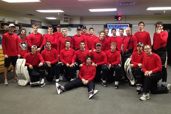 Pittsburgh Penguins in Red; Neal front and center!