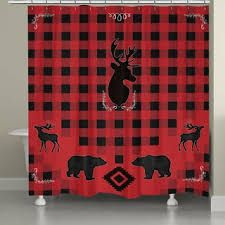 Image result for red plaid shower curtain and towels