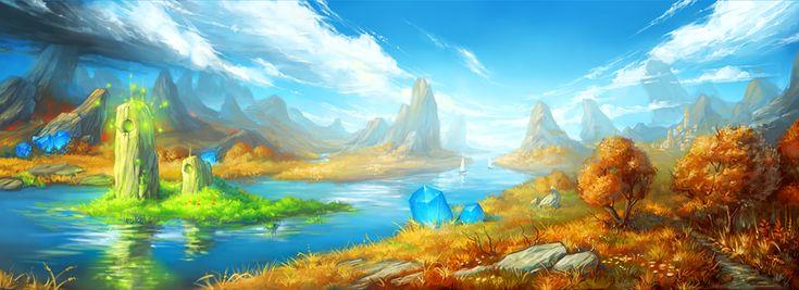 island of summer by KalaNemi on DeviantArt