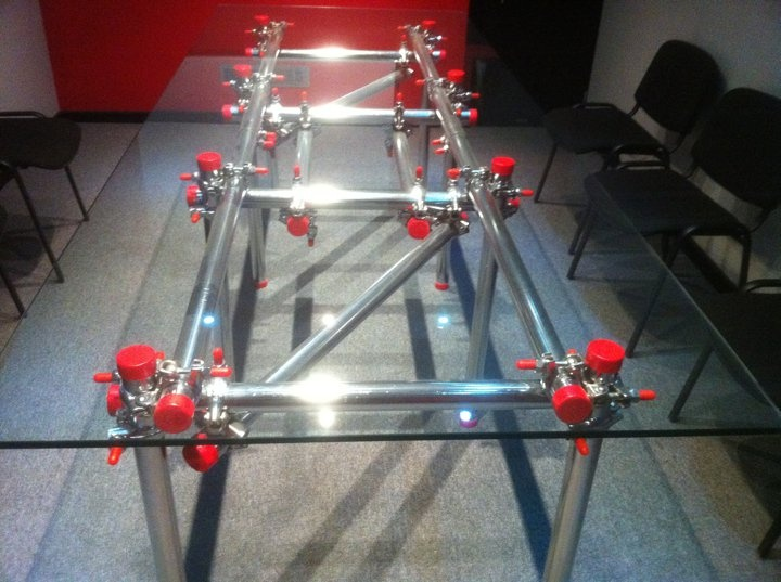 Scaffold table - shiney shiney!