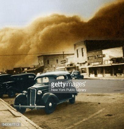 Stock Photo : Dust Bowl of the 1930's, Elkhart, Kansas