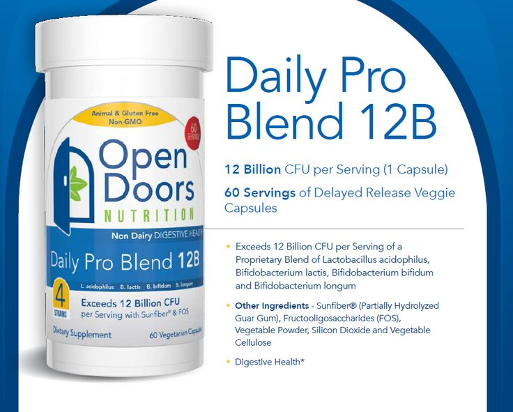 Daily Probiotic from OpenDoors Nutrition - Daily Pro Blend 12B  Buy From Amazon at http://www.amazon.com/gp/product/B00JZOQ3XA