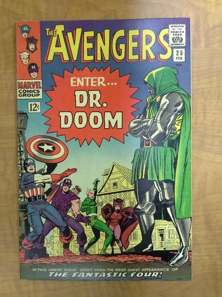 Avengers #25, Dr. Doom Classic Cover, 1966, Silver Age, Free Shipping