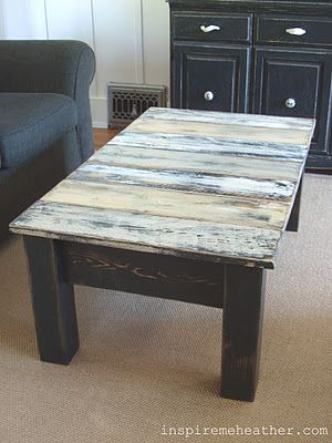 pallet coffee table - the first pallet furniture on Pinterest I REALLY like