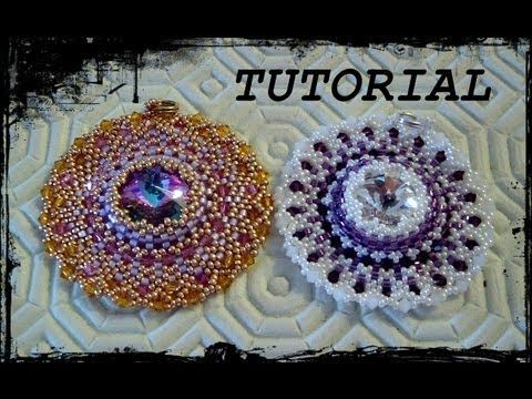 """Tutorial Peyote: Ciondolo """"Life Circle"""" realizzato con perline delica, rocaille e bicono swarovski. - YouTube"""