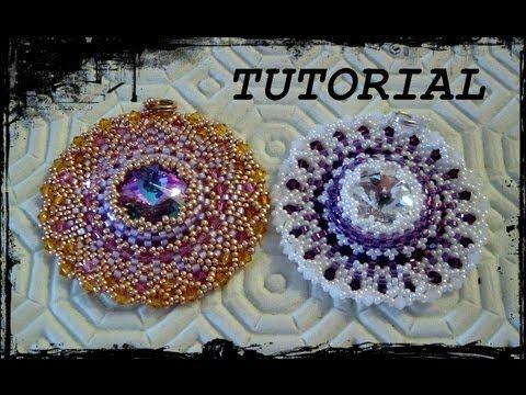 """Tutorial Peyote: Ciondolo """"Life Circle"""" realizzato con perline delica, r..."""