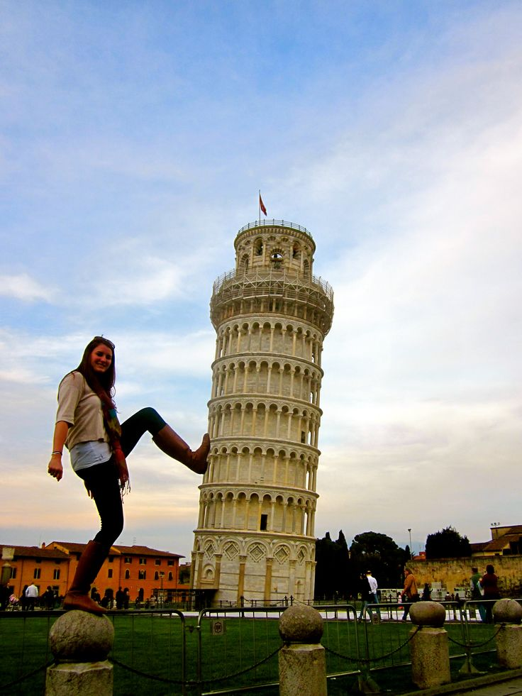 Pisa, Italy - The Leaning Tower of Pisa     (And yes, I want a cheesy tourist picture like this.)
