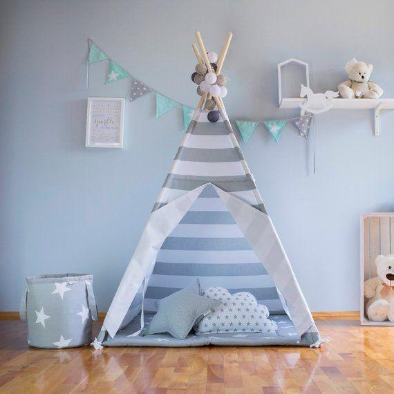 Graue Streifen Tipi Zelt Hochwertige Tipi Teepee Tent Striped Teepee Teepee