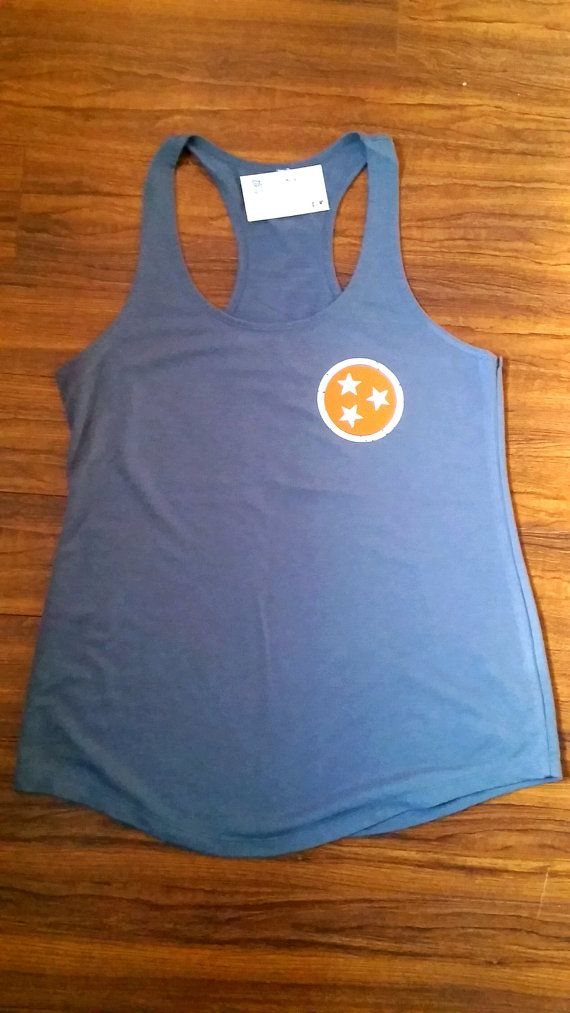 TN VOLS Tank Orange and White GBO tank by BumblingBeeBoutique