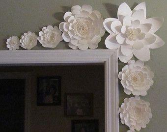 Large Paper Flowers-Backdrop-Wedding by LavishInspirations on Etsy