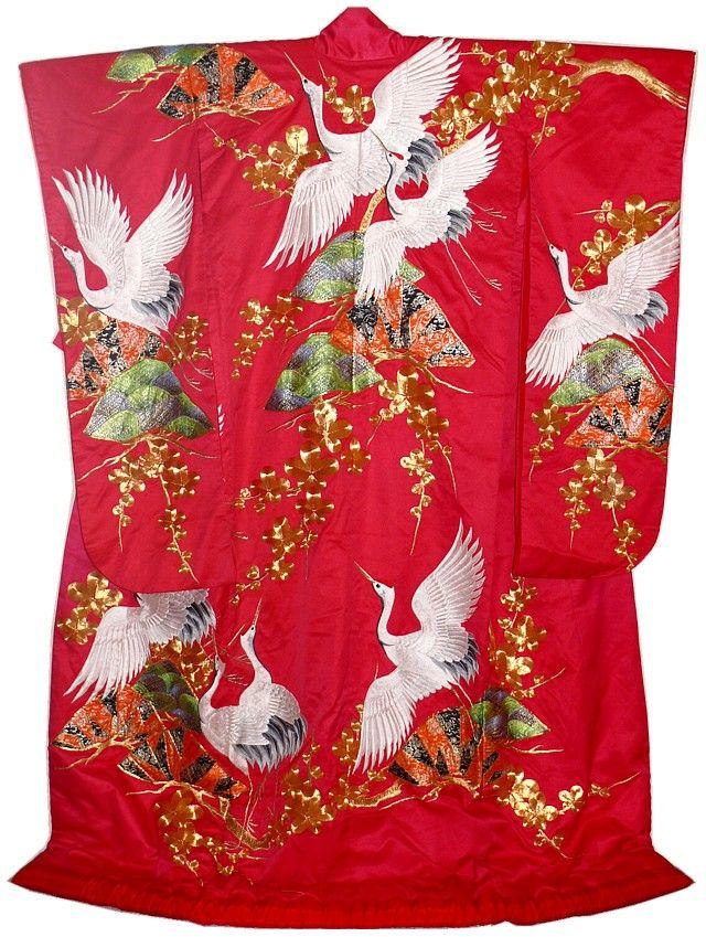 wedding kimono gown, 1970's. The Japonic Online Kimono Store