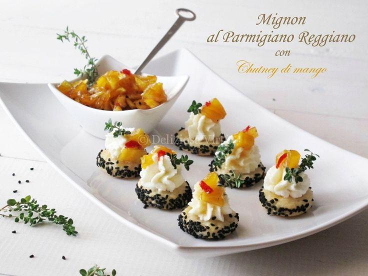 Mignon al parmigiano con chutney di mango