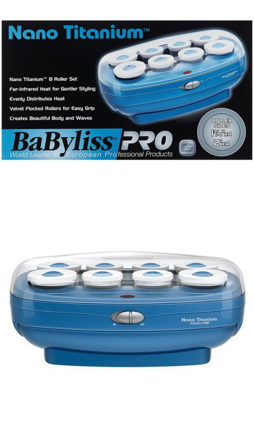 Rollers and Curlers: Babnths8 Babyliss Pro Nano Titanium Professional 8 Jumbo Plus Roller Hairsetter -> BUY IT NOW ONLY: $34.48 on eBay!