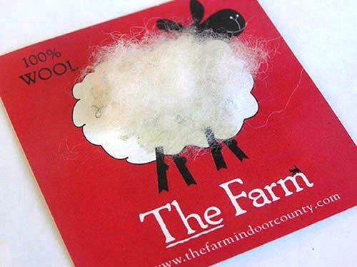 Desain Kartu Nama Unik tidak Biasa | the farm wool like shund the sheep business card