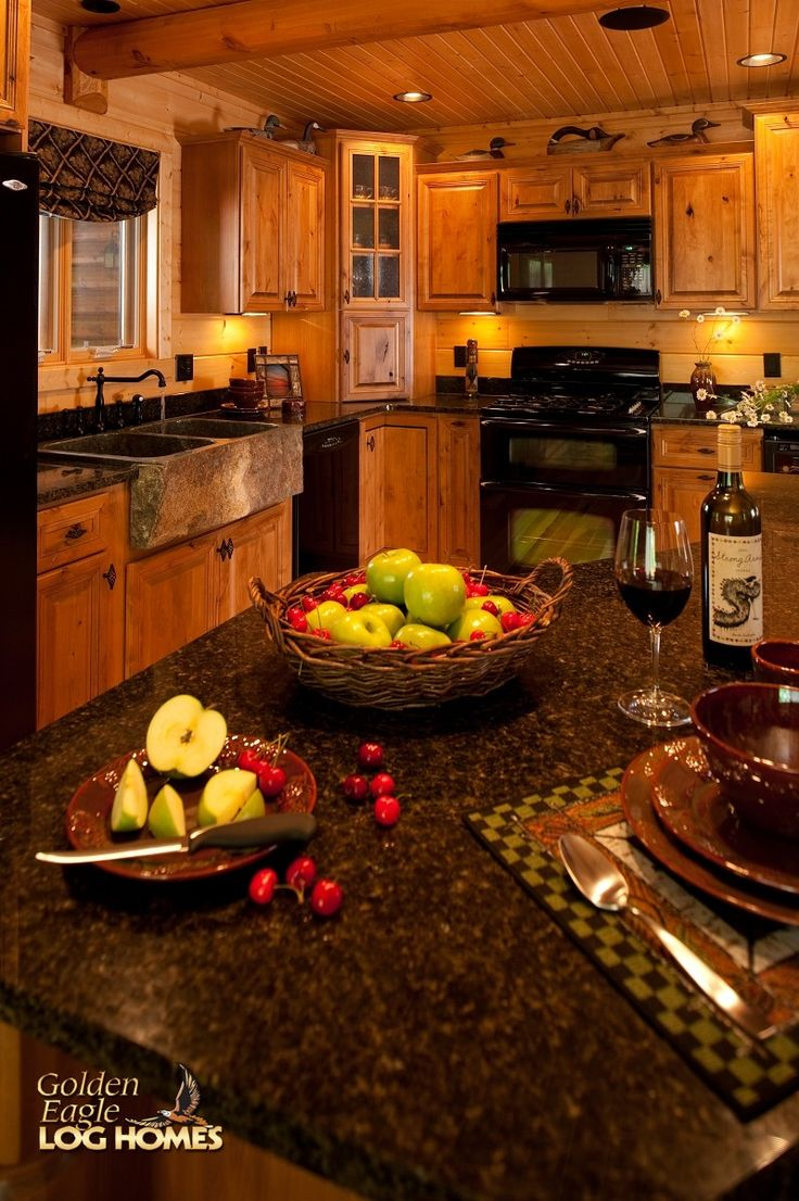 25 best ideas about knotty pine kitchen on pinterest for Cabin kitchen backsplash ideas