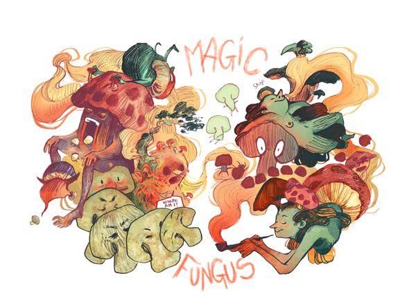 Magic Fungus by Nuria Tamarit, via Behance