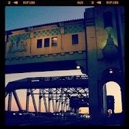 Twilight on the Burrard Street Bridge.