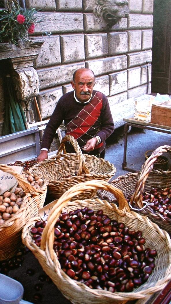 Chestnut seller in Italy