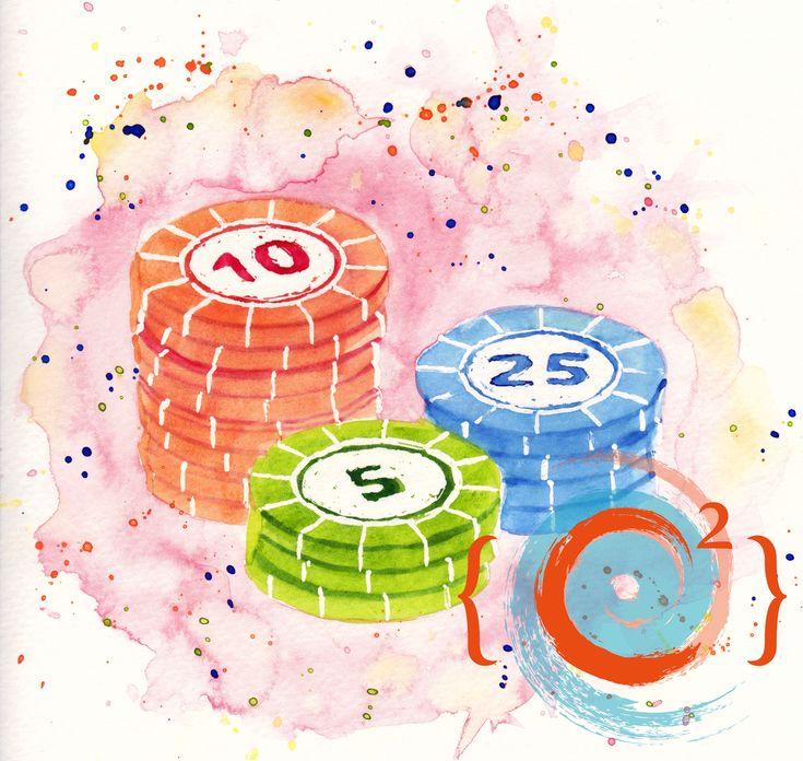 Candy Poker - Watercolor painting by Catie Corbin - www.catiecorbin.com/portfolio